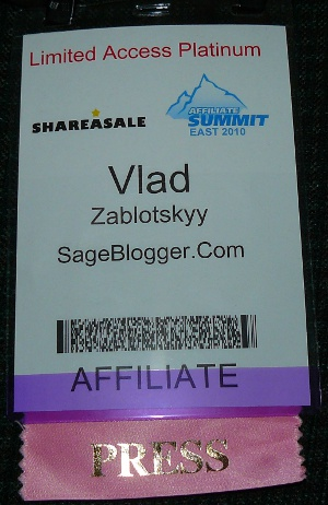 Affiliate Summit East 2010 Badge