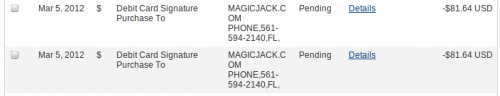 magicJack charged my credit card twice