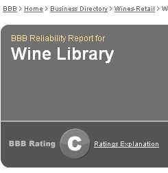 BBB gives C to Wine Library
